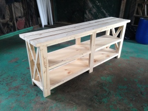 Rustic X Console Table